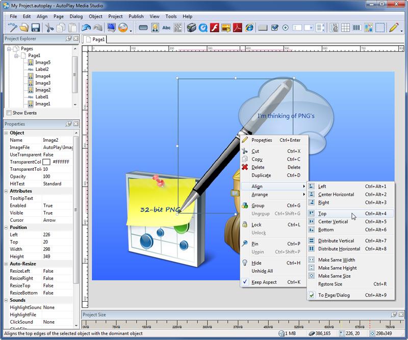 Autoplay menu studio