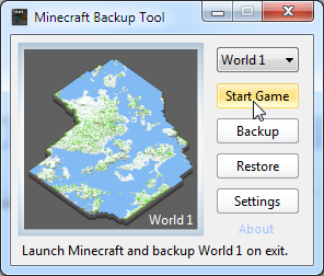 how to restore minecraft world from backup